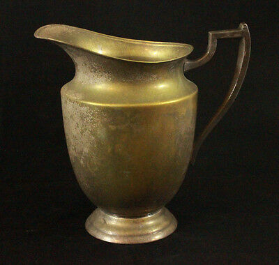 Vtg N S Co. 1007 Silver On Copper WATER PITCHER Very Distressed Silver Plate