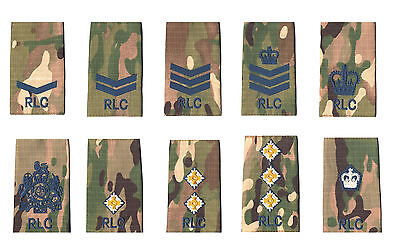 Pair of RLC Blue on Multicam / MTP Match Rank Slides ( for Multi Terrain Pattern