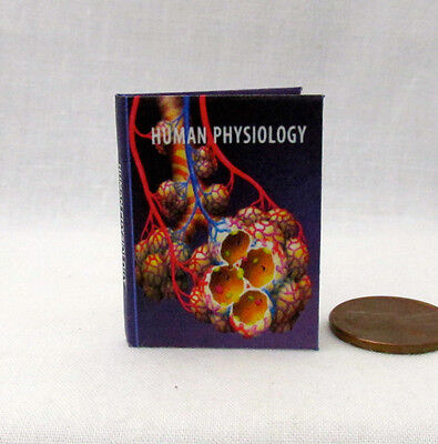 HUMAN PHYSIOLOGY 1:6 Scale Readable Illustrated Miniature Book