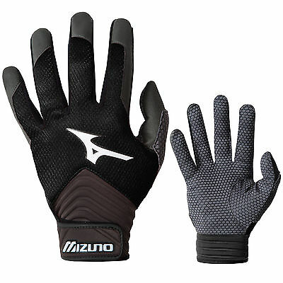 Mizuno MVP Youth Tee Ball Batting Gloves - Black