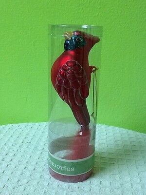 New* Holiday Living Memories Bird Ornament With Feathers! Free Shipping