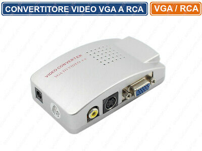 Convertitore Vga - Av Rca S-Video S-Vhs