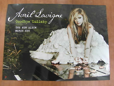 AVRIL LAVIGNE Goodbye Lullaby [OFFICIAL] 2sided POSTER