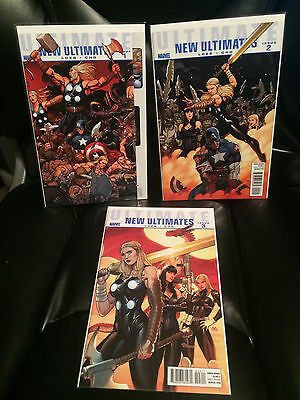 Marvel Comics NEW ULTIMATES #1 2 and 3 Loeb and Cho NM
