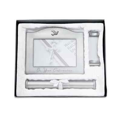 New Certificate Holder Frame 'your Confirmation' Pewter Finish Eligious Gift