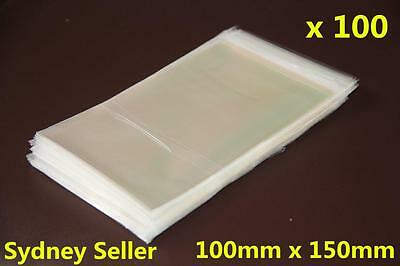 100x Self Adhesive Self Seal Resealable Clear Plastic Cellophane Bag 10x15cm New