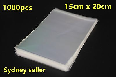 1000pcs Self Adhesive Self Seal Resealable Clear Plastic Cellophane Bags 15x20cm