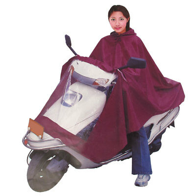 "Motorcycle Scooter Rain Cover Waterproof Raincoat Protector 30"" Width Red"