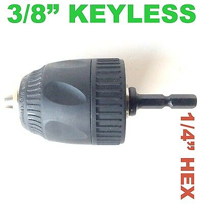 "1 pc Keyless 1/32-3/8"" Cap Drill Chuck with Conversion 1/4"" Hex Adapter S"