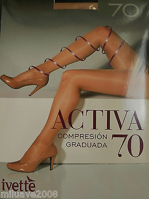 Media Panty Tights Collants Ivette -70Den Compresion Graduada Masaje Y Relax