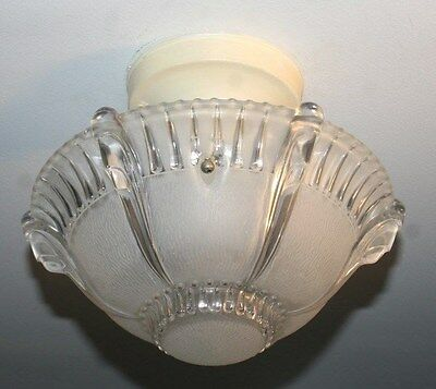 Antique 10 inch frosted glass art deco light fixture ceiling chandelier