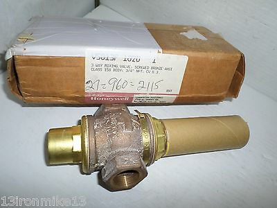 "NEW HONEYWELL V5013F 1020 3-Way mixing valve 3/4"" NOS"