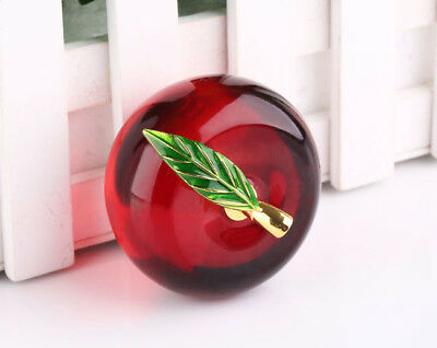 60mm 3D Crystal Glass Apple Paperweight Home Decorations Lady Wedding Gifts