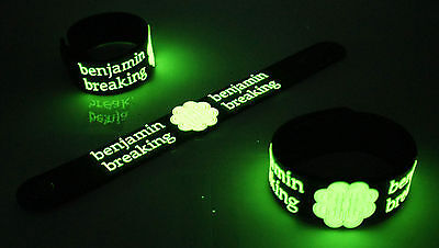 BREAKING BENJAMIN NEW! Glow in the Dark Rubber Bracelet Wristband failure vg266