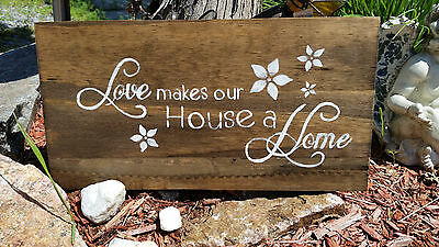 Handcrafted sign
