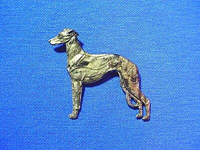 Wild colored Pewter Pin standing Whippet Greyhound Sighthound Dog Jewelry Waa1