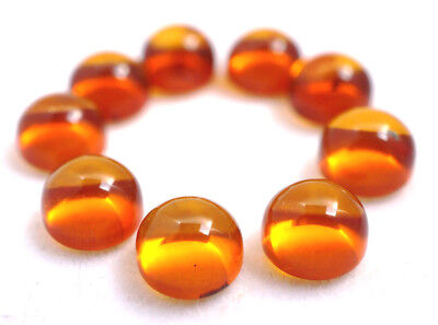 Baltic amber cognac cabochon 6mm round flat back certificate supplied.