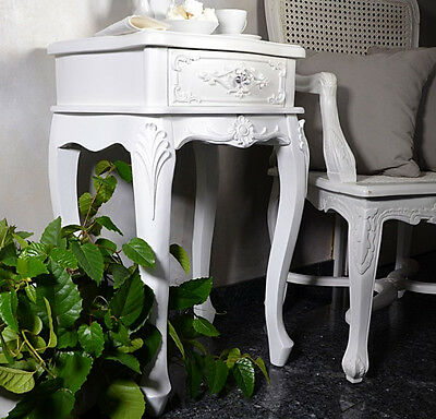 Bedside Table Cabinet Chest Of Drawers Marie Antoinette French Style White
