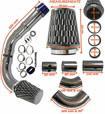K&N TYPE UNIVERSAL PERFORMANCE COLD AIR FEED INDUCTION INTAKE KIT – Toyota 1