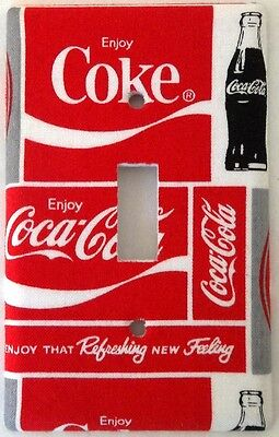Coca Cola Light Switch Outlet Cover Kitchen Dining Room Coke Soda Wall Decor