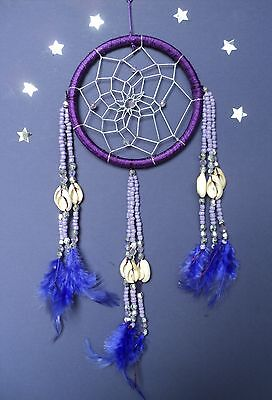 DREAM CATCHER BROWN WITH SILVER CENTRES SHELLS AND BEADS BOYS GIRLS GIFT