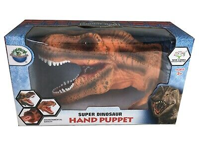 Large 10'' Dinosaur Hand Puppet T-Rex Tyrannosaurus Play Toy Museum Detail boxed