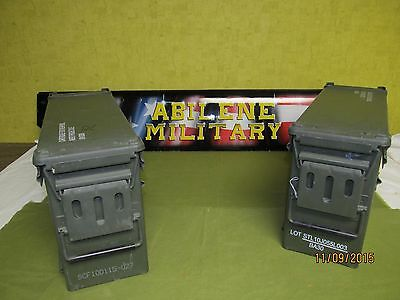 2 each Military Surplus 40mm PA-120 Large Ammo Can Box 100% Steel Excellent