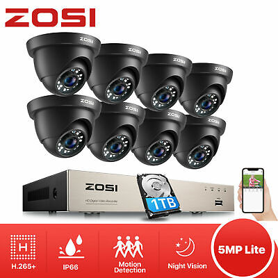 ZOSI 960P 4CH HD Network NVR 2500TVL Wireless IP CCTV Security Camera System