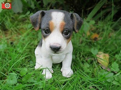 So Cute Tri Jack Russell Puppy For Home & Garden. Very Realistic, Life Size