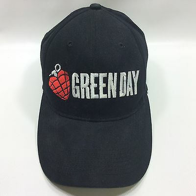 Green Day American Idiot Biodomes Black Fitted Stretch Baseball Hat Cap 2005