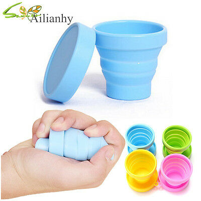 Portable Mini Retractable Folding Collapsible Outdoor Silicone Cup For Travel hy