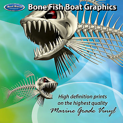 Bone Fish Graphics - set of 300mm Boat Graphics