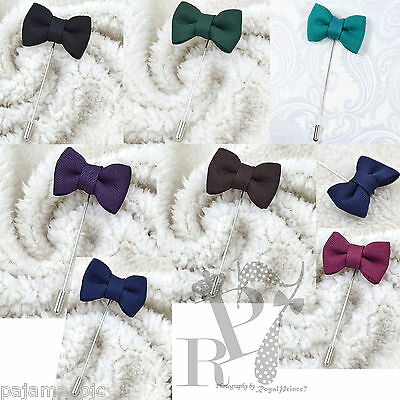 New Men's Suit brooch chest buckle brooch Pin Bow Design lapel pin 7 Colors