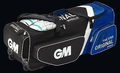 GM 5 Star Original Cricket Wheelie Grade1 Kit Bag + Free Ship & Extras