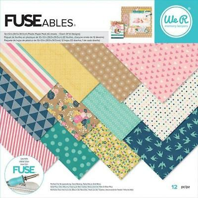 We R Memory Keepers-FUSEables fuse plastic paper pack 12 sheets