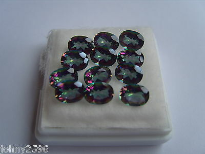 a mystic quartz loose gemstone size 8x6mm oval.£1.60 each.