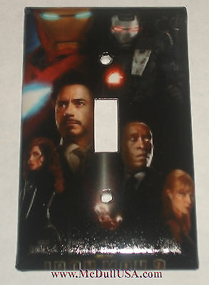 Iron Man Movie Light Switch Duplex Outlet Wall Cover Plate Home Decor