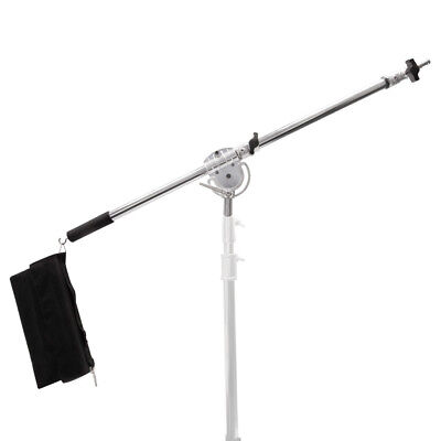 Strong Heavy Duty Stainless Steel 120-220cm Studio Telescopic Boom Arm Essential