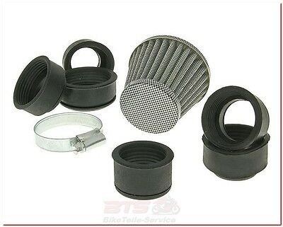 Luftfilter Powerfilter 28-50mm Carbon-Look-Aprilia Area, RS Tuono, MX, Amico, At
