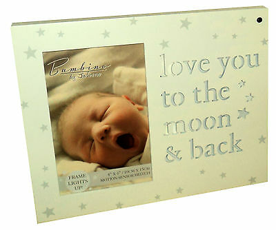 Light Up Photo Picture Frame Plaque Gift Baby Boy Girl Shower Present Wall Stand