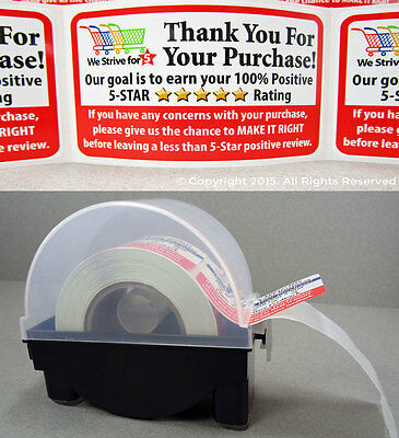 250 Amazon eBay etsy Thank You For Your Purchase Labels Stickers 2x3 & DISPENSER