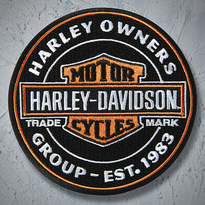 Oil Can Patch, Bar and Shield ~ Harley Davidson Owners Group HOG, H.O.G.