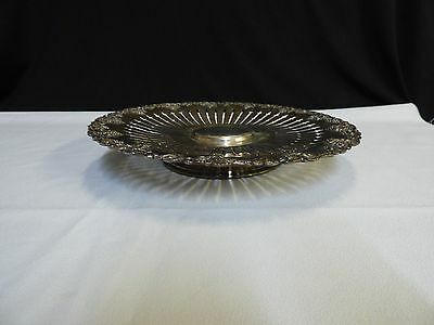 """Vintage Sheffield Silverplate Ornate Cake Stand or Pedestal Serving Tray"""" NICE"""""""