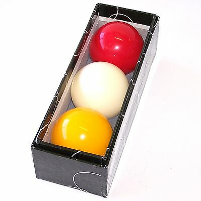 "Professional Red White Yellow Billiard Ball Set 2"" inch (Australian Seller)"