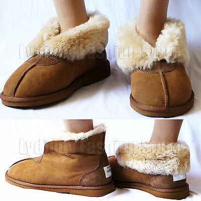 New Australian Genuine Real Sheepskin Mens/Womens Moccasins Slippers Ugg Boots
