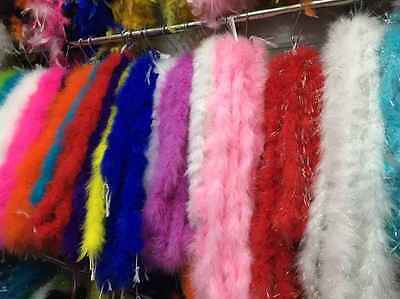 2 M FLUFFY FEATHER TRIMMING Feather Strip Fancy Dress Party Costume Wedding