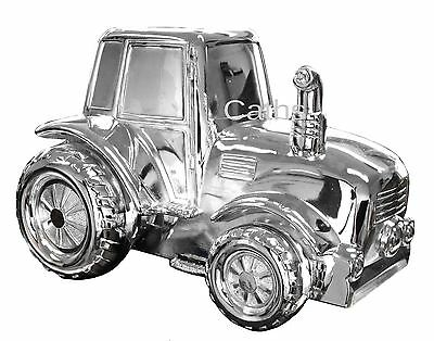 Bambino by Juliana Collection Child's Silver Plated Tractor Money Bank
