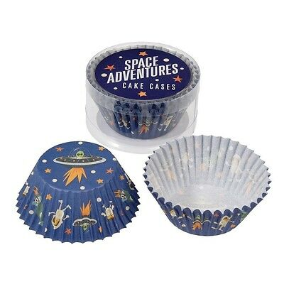 Set Of 50 Space Adventures Cupcake Cases Muffin Cases. Delivery is Free