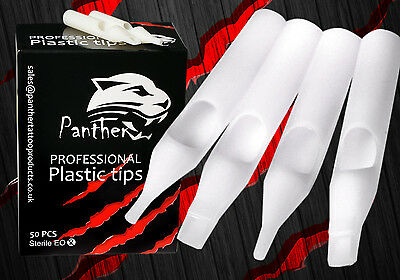 Round Plastic Tattoo Tips Disposable (Pack Of 25) All Sizes