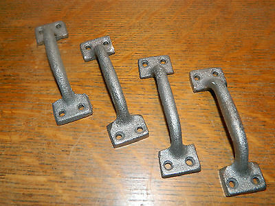 "Lot 4 ~3 7/8""  Iron Cabinet Drawer Sash Showcase Handles Pulls"